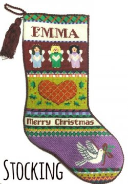 needlepoint stocking finishng