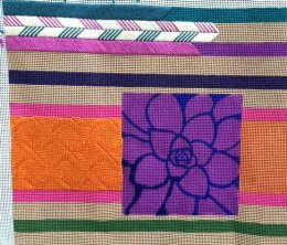 stitch stripes in needlepoint