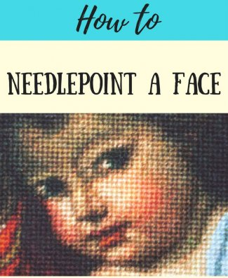how to needlepoint a face