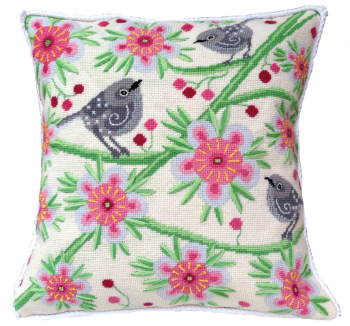 needlepoint pillow kit stitchsmith contemporary