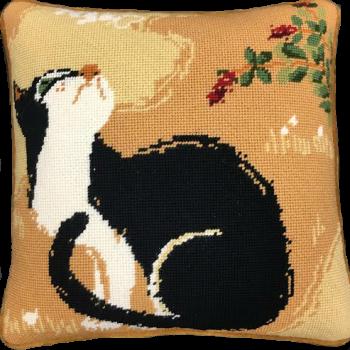 needlepoint pillow kit oriental cat