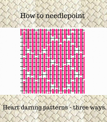 needlepoint darning pattern how to stitch open