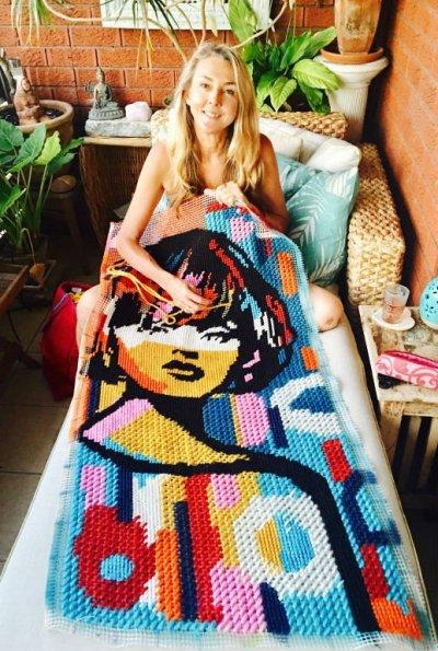 tapestry girl niki mcdonald contemporary art