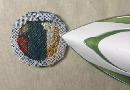 how to finish a needlepoint ornament