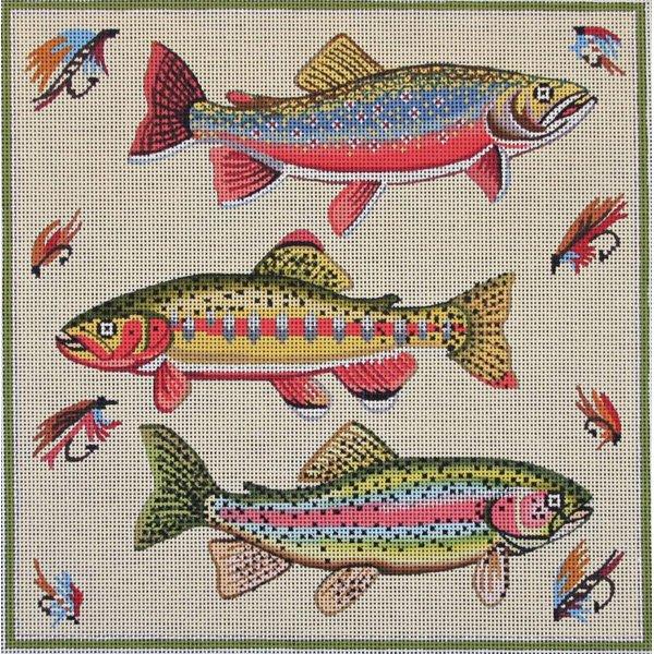 Three Fish Needlepoint