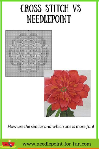cross stitch vs needlepoint