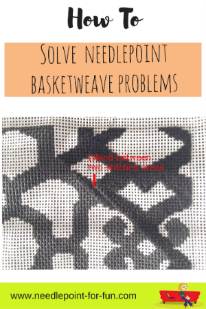 basketweave needlepoint stitch problems