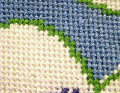how to stitch a curved line in needlepoint