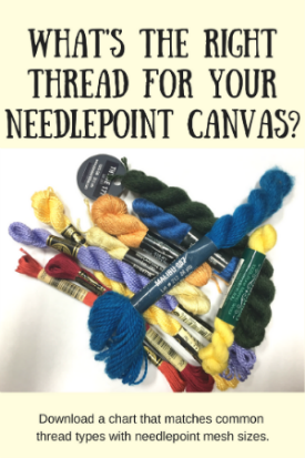 matching threads to needlepoint canvas