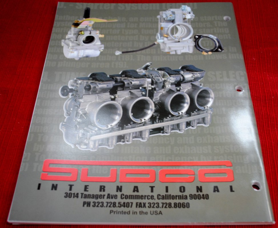 Sudco Mikuni Carburetor Parts And Tuning Manual