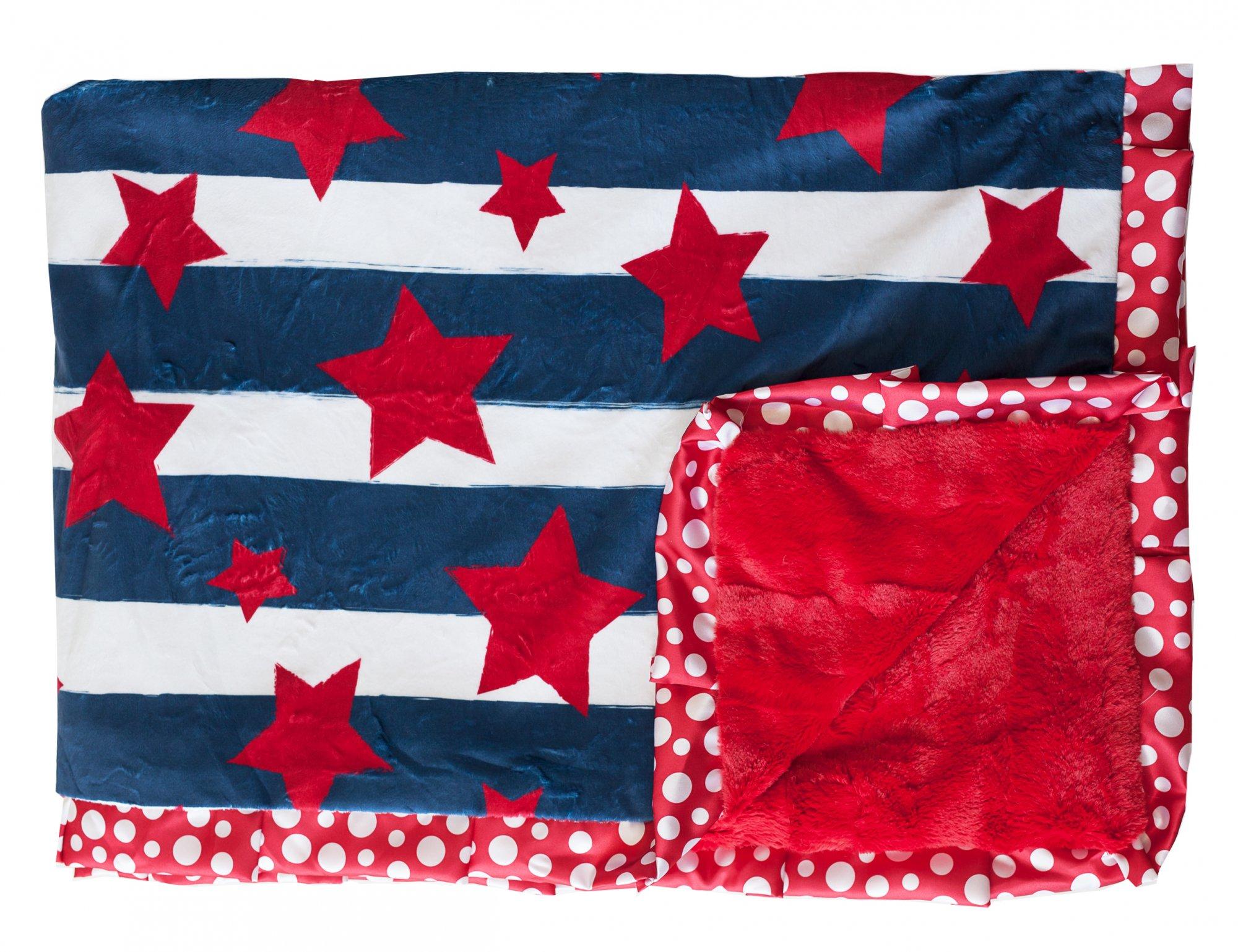 Stars & Stripes-Sorbet Red-Red Polka Dot