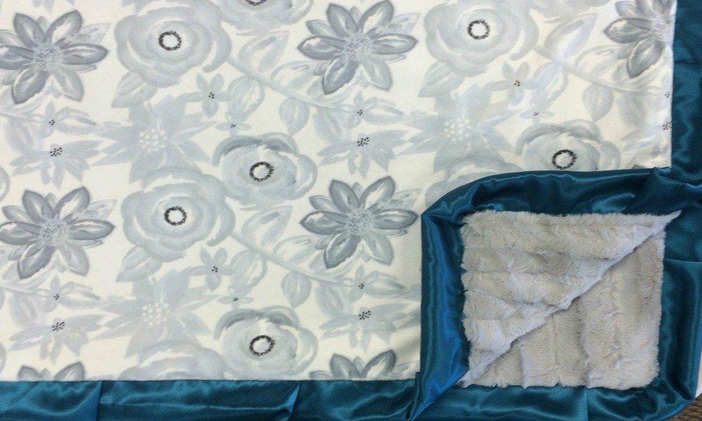 Blooms Sterling w/TEAL-Silver Fox-Dark Teal