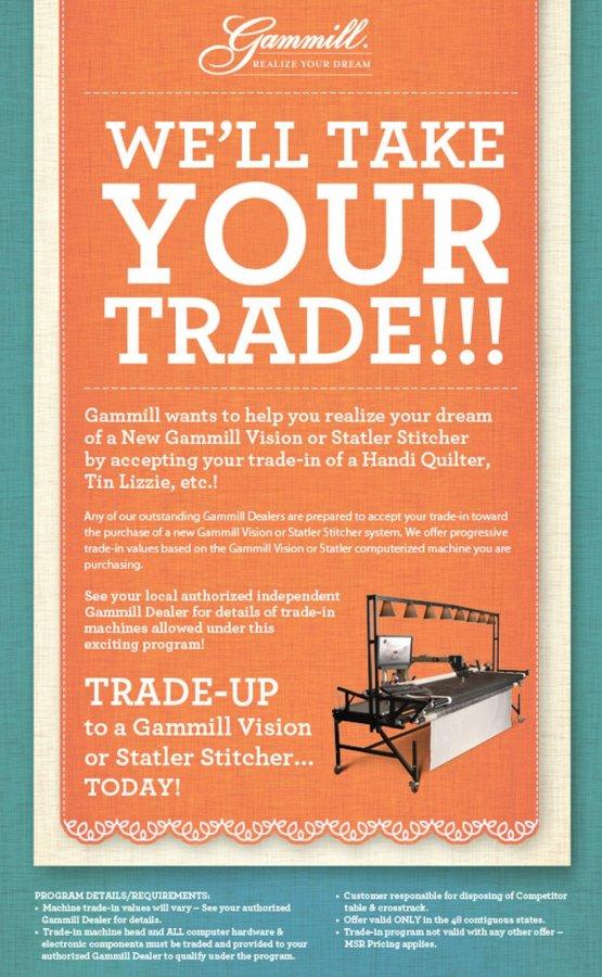 Gammill Trade-In February 2015