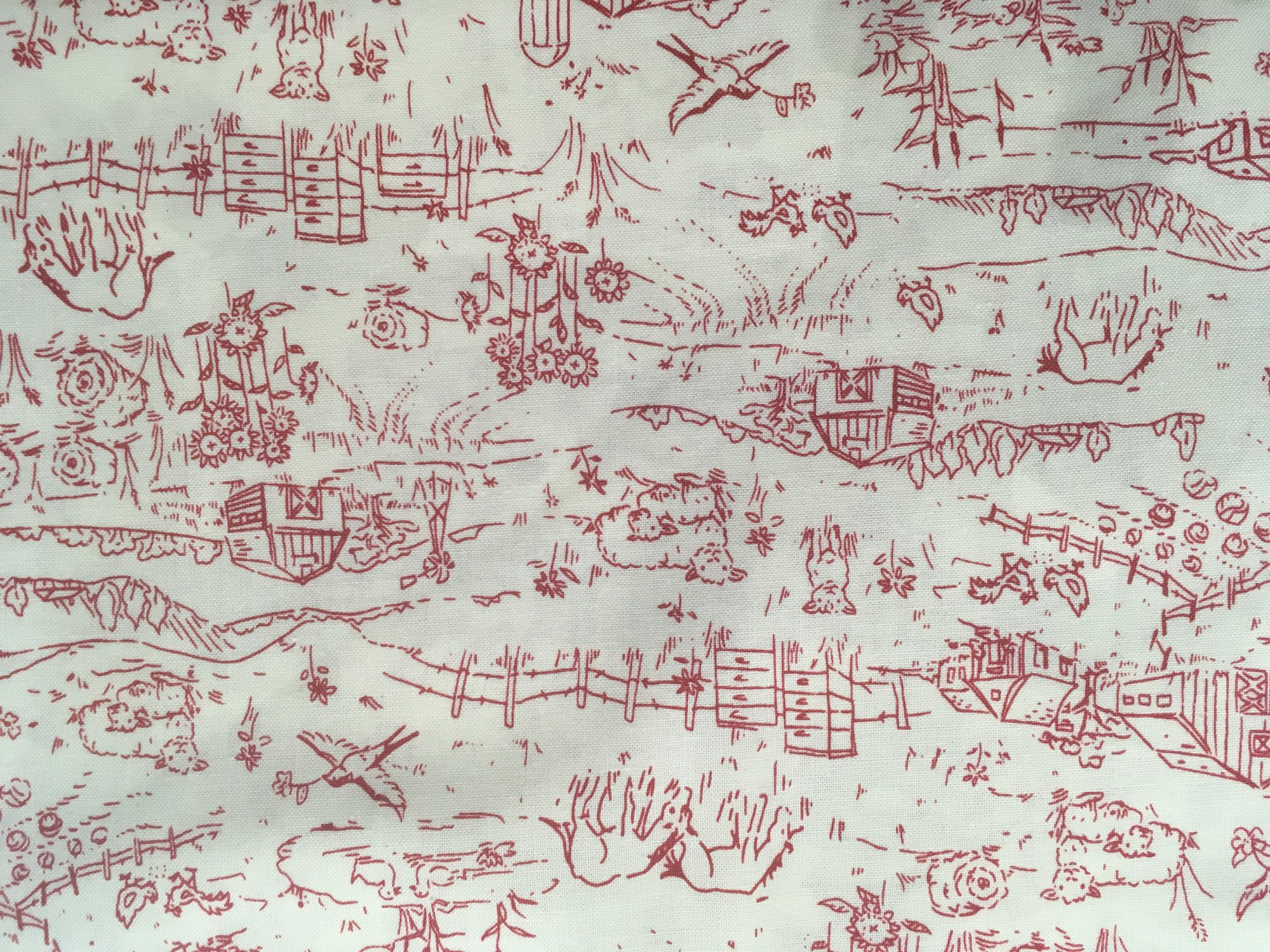 Country days toile - Toile triptyque design ...