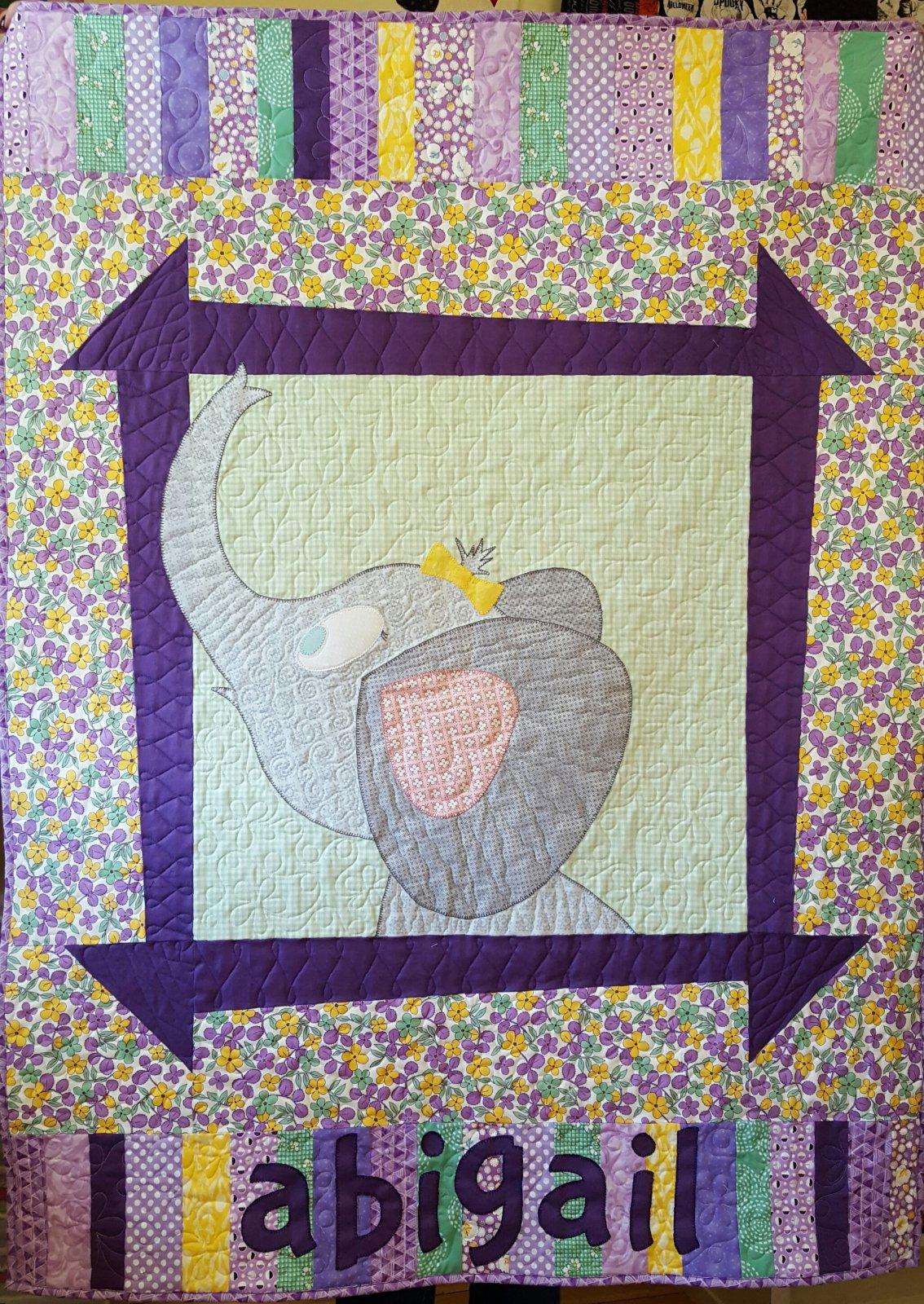 Abigail's Elephant Quilt Kit 40 x  54