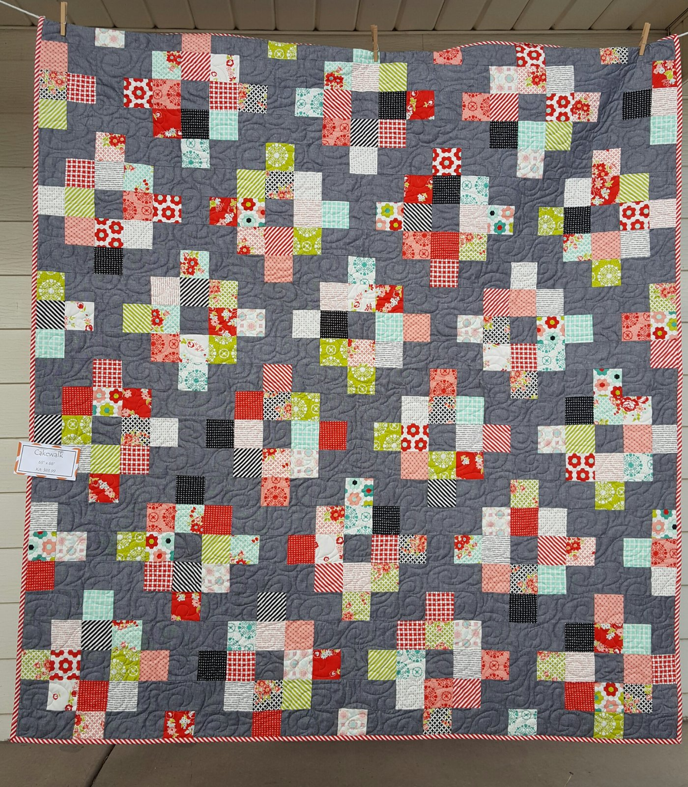 Cakewalk Quilt Kit 63 x  68