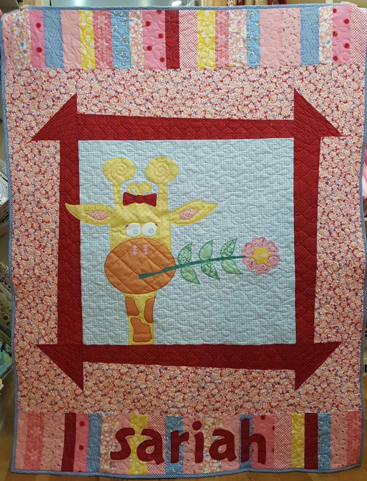 Sariah's Giraffe Quilt Kit 40 x  54