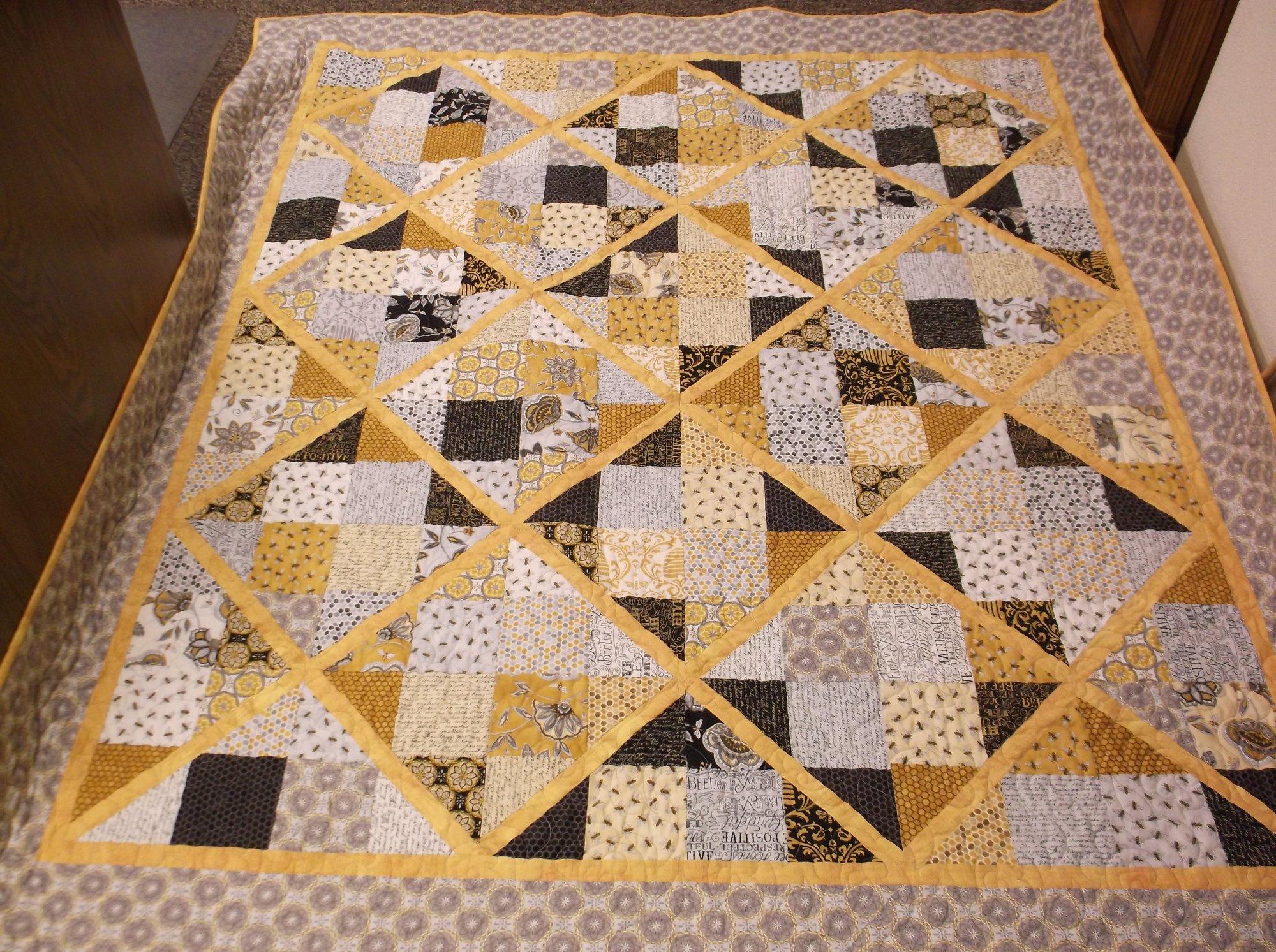 Four Patch Lattice Quilt Kit Missouri Star