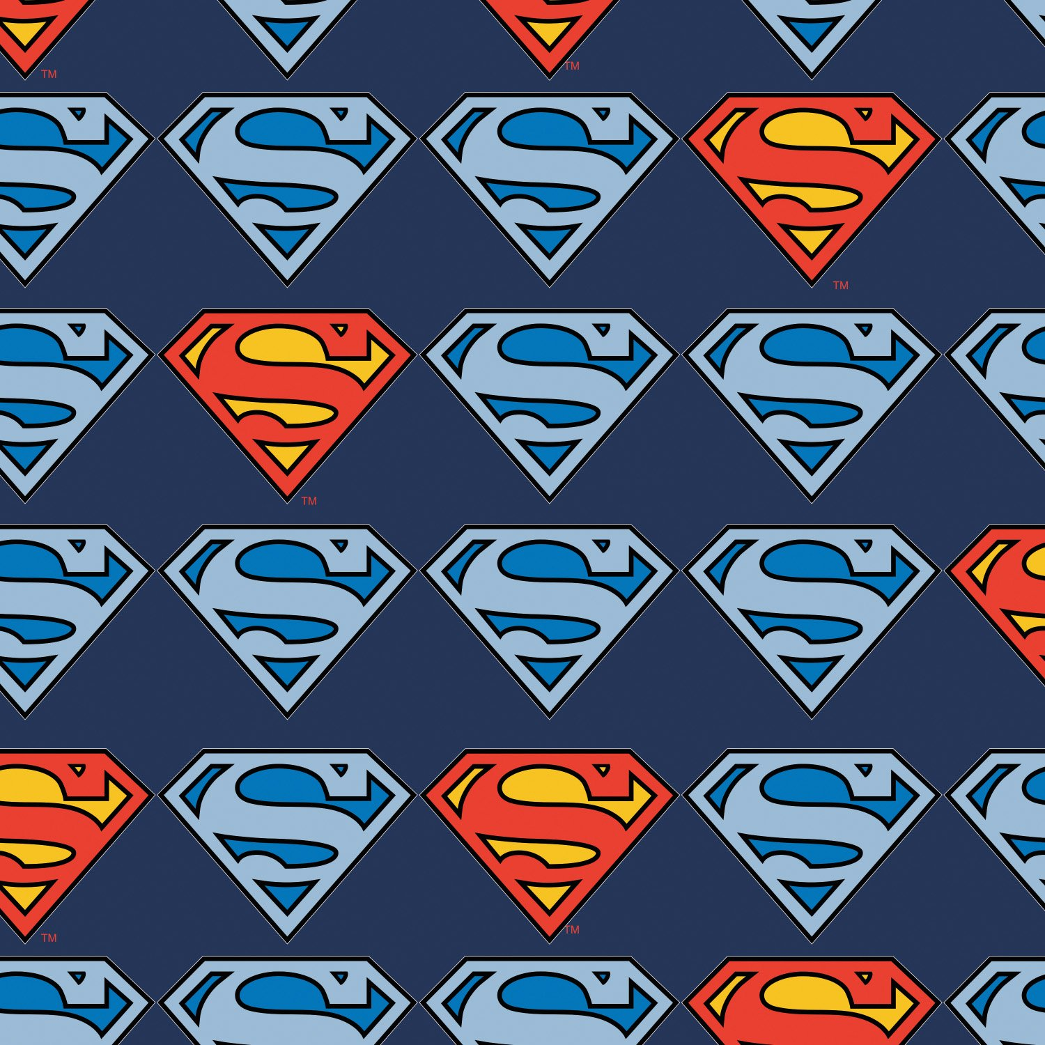 Superman shield, flannel