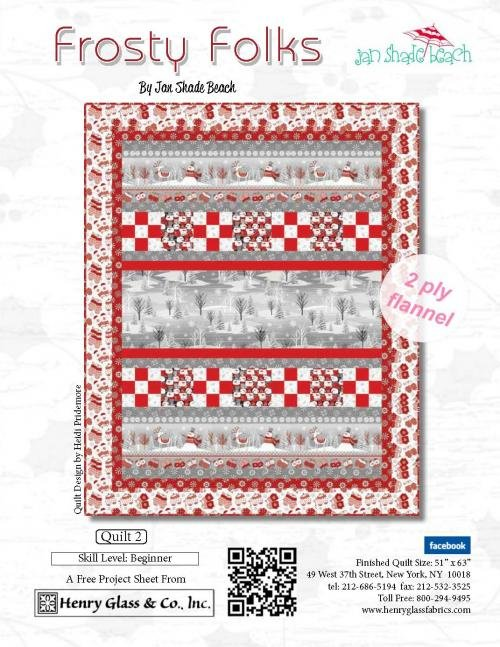 Frosty folks flannel, quilt kit 2