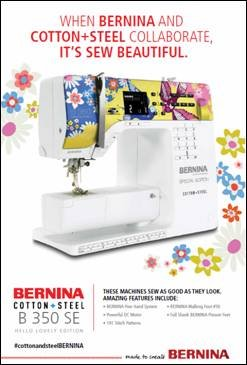 Bernina 350, Limitied edition, cotton and steel, Hello lovely