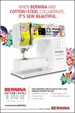 Bernina 350, Limitied edition, cotton and steel, I love sewing