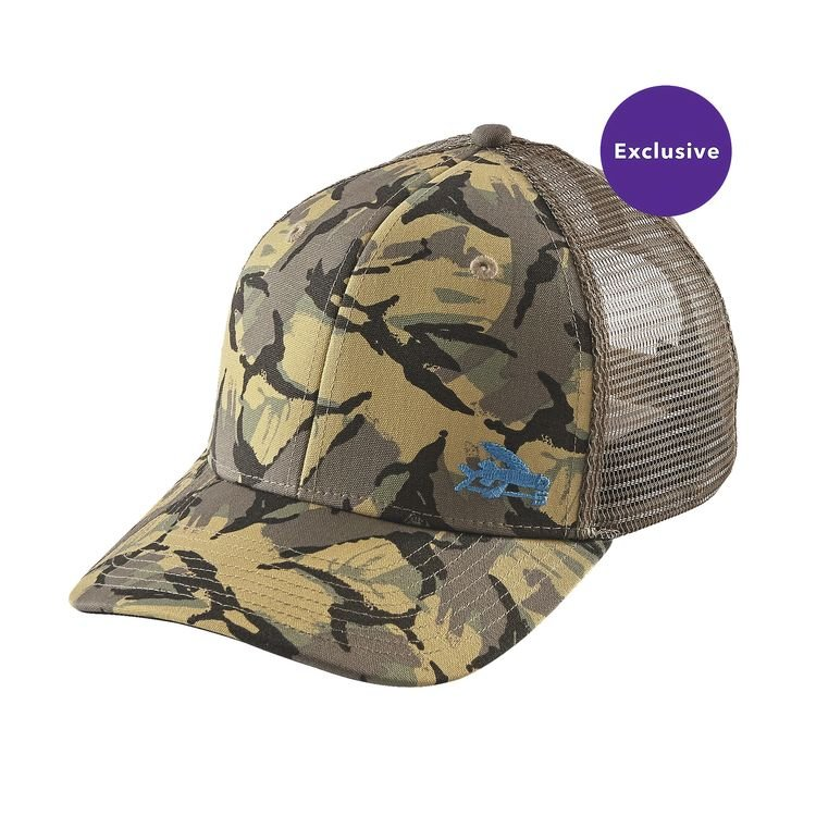 Patagonia small flying fish trucker hat 889833287754 for Patagonia fishing hats