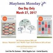 March 27 mayhem monday