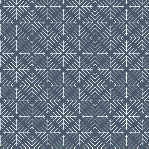 Curiosities -Caught Snowflakes -Navy