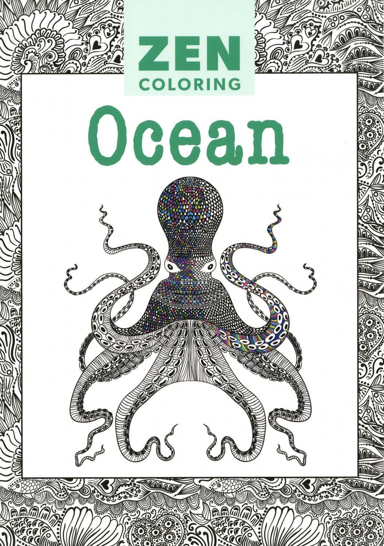 Zen ocean colouring book - Zen Coloring Ocean
