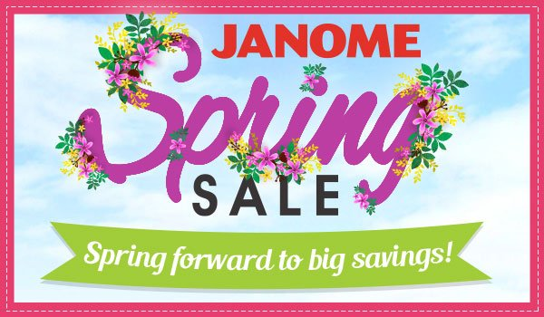 Janome Spring Sale