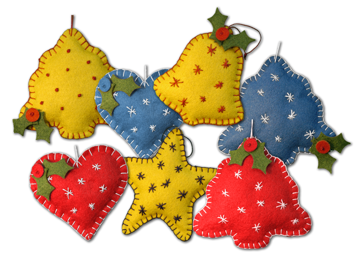 Old Fashioned Christmas Ornament Kit Bells 2025
