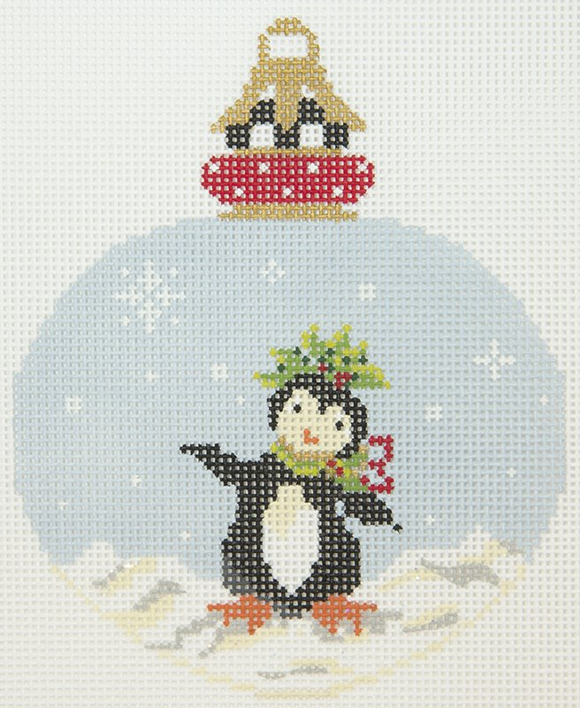 KANP18 Silly Penguin Holly Ornament