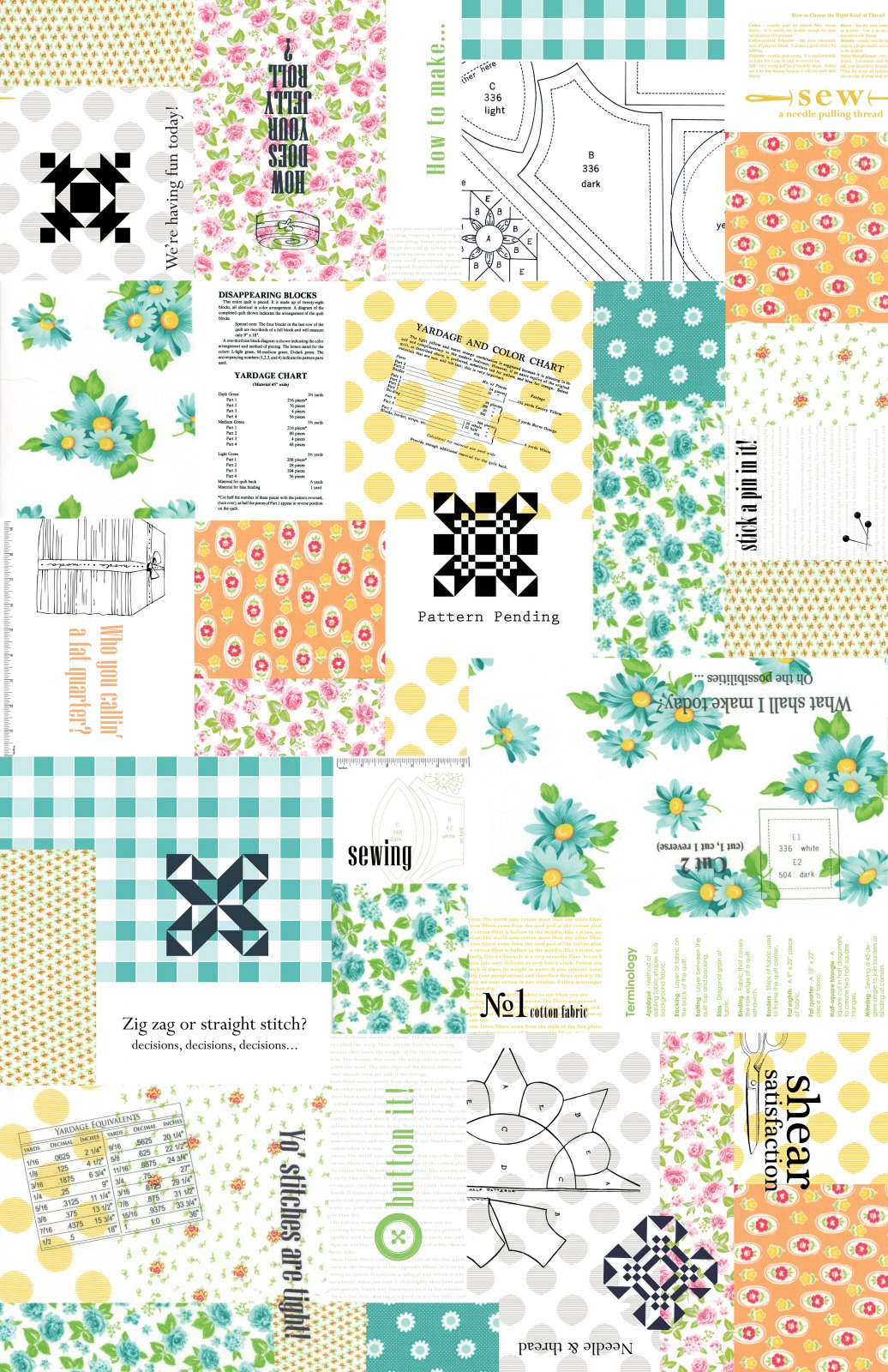 Sew and Sew Patchwork Fruity 33180 11-  Chloe's Closet