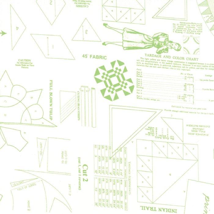 Sew & Sew Limeade Pattern Print Fabric