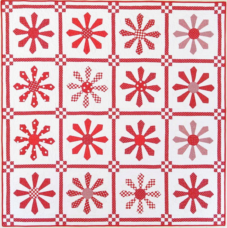Red Daisy Pattern - American Jane