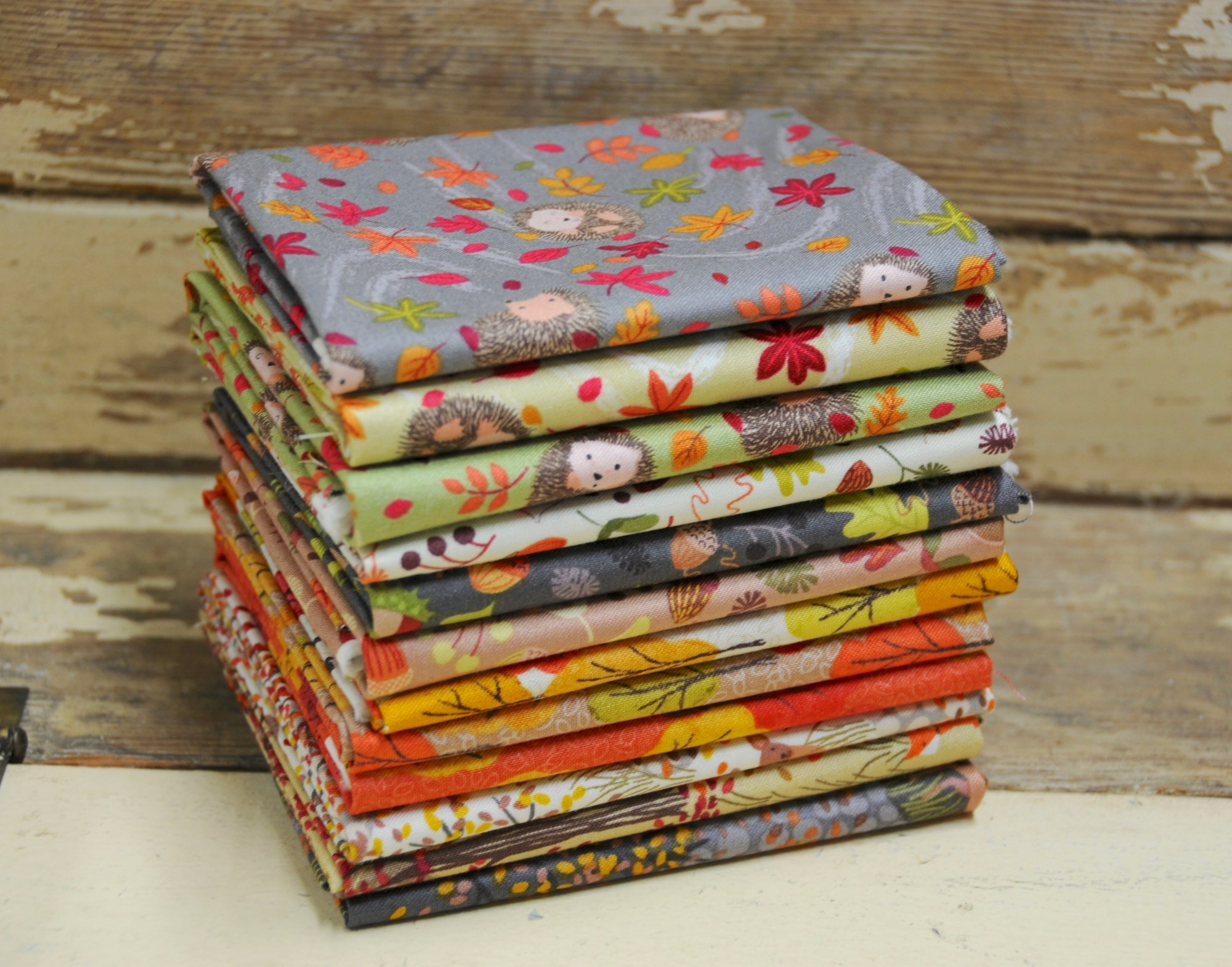 Autumn In Bluebell Wood Fat Quarter Bundle Set of 12