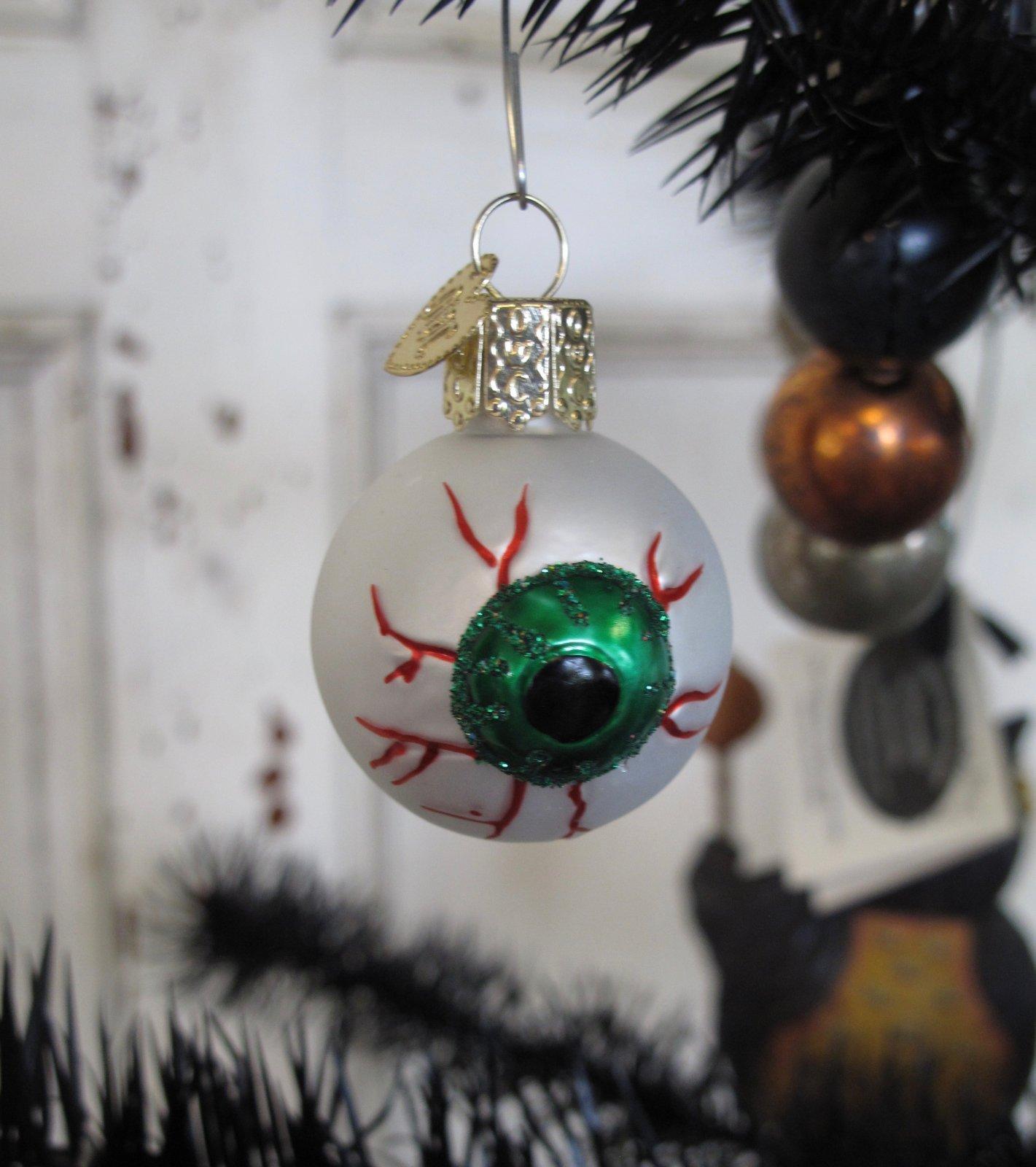 Eyeball christmas ornaments - Evil Eye Ornament Old World Christmas