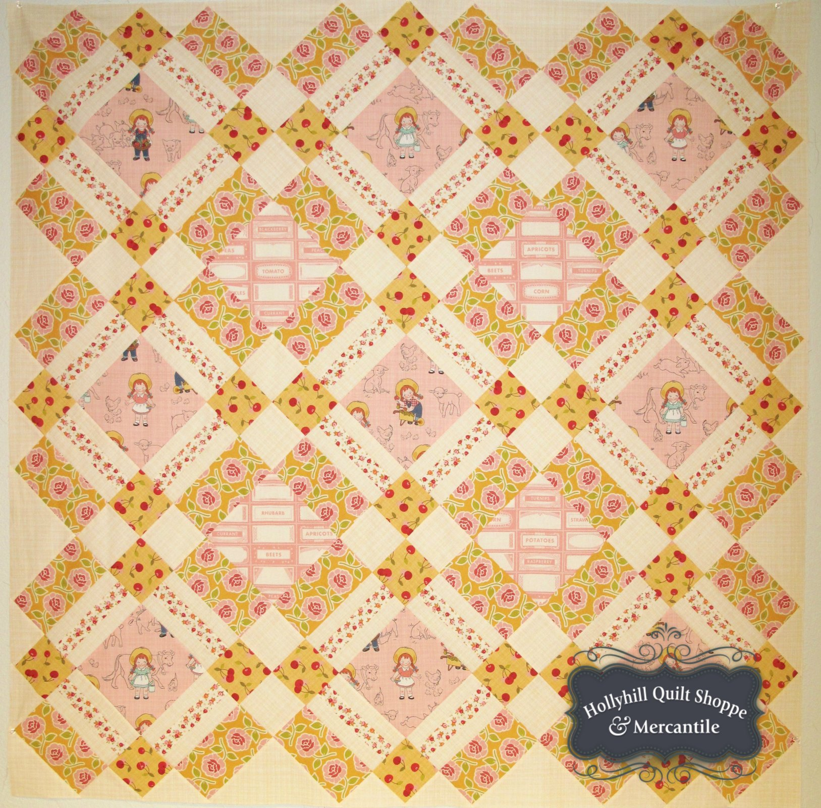 Farm Girl Pink Quilt Kit
