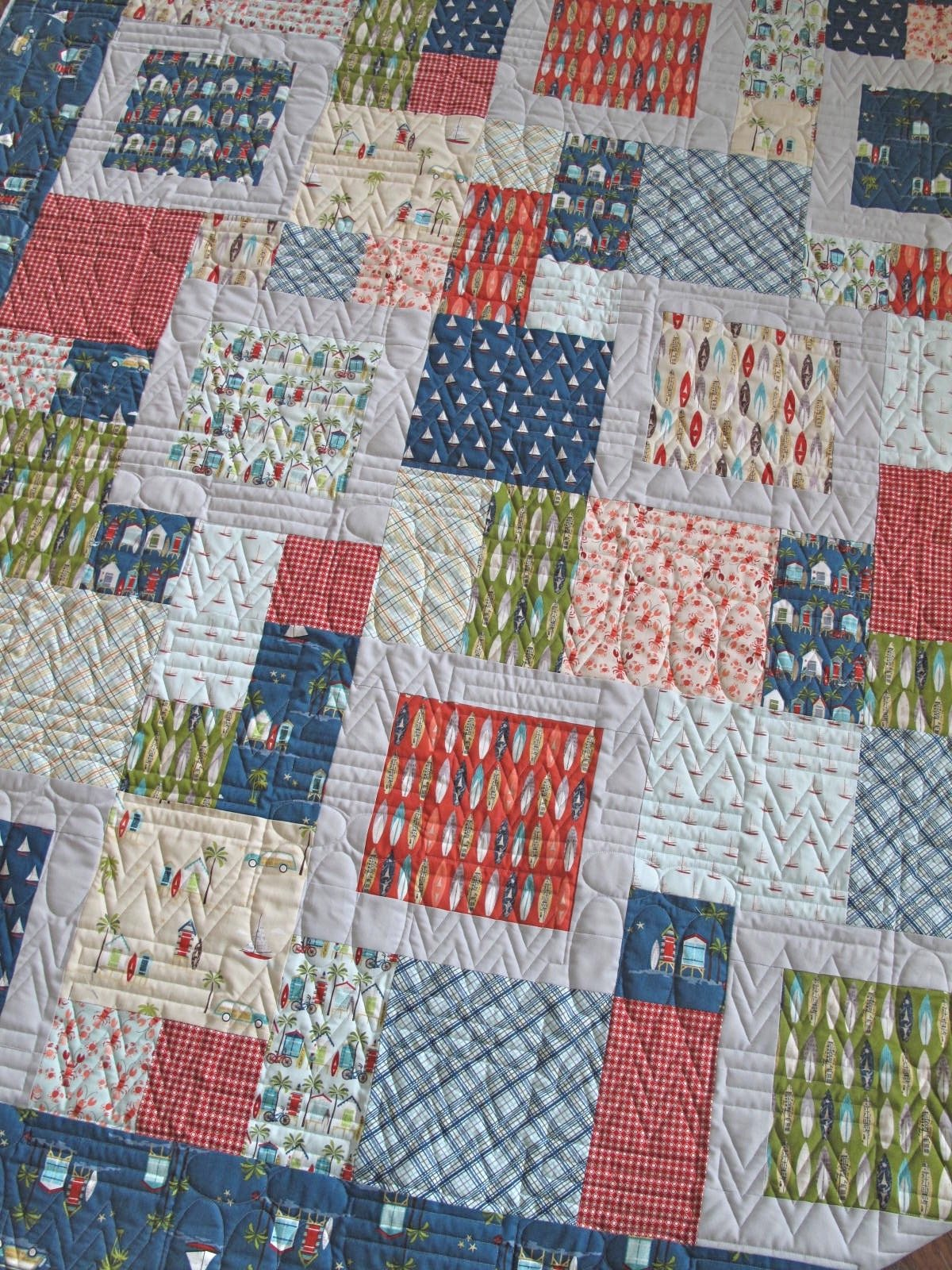 Hang Ten Finished Quilt