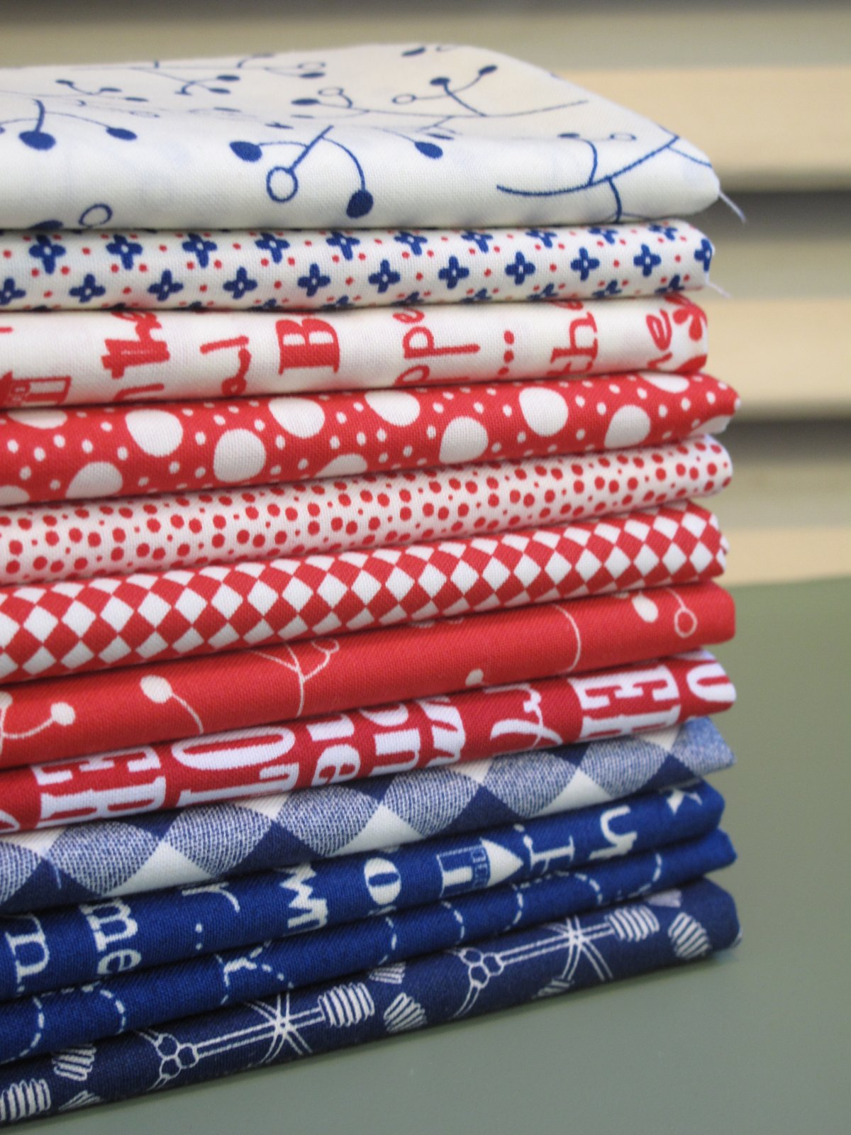 Red, White & Blue 12 Fat Quarter Bundle