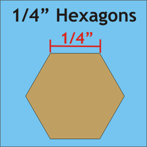 1/4 Paper Hexies 50count