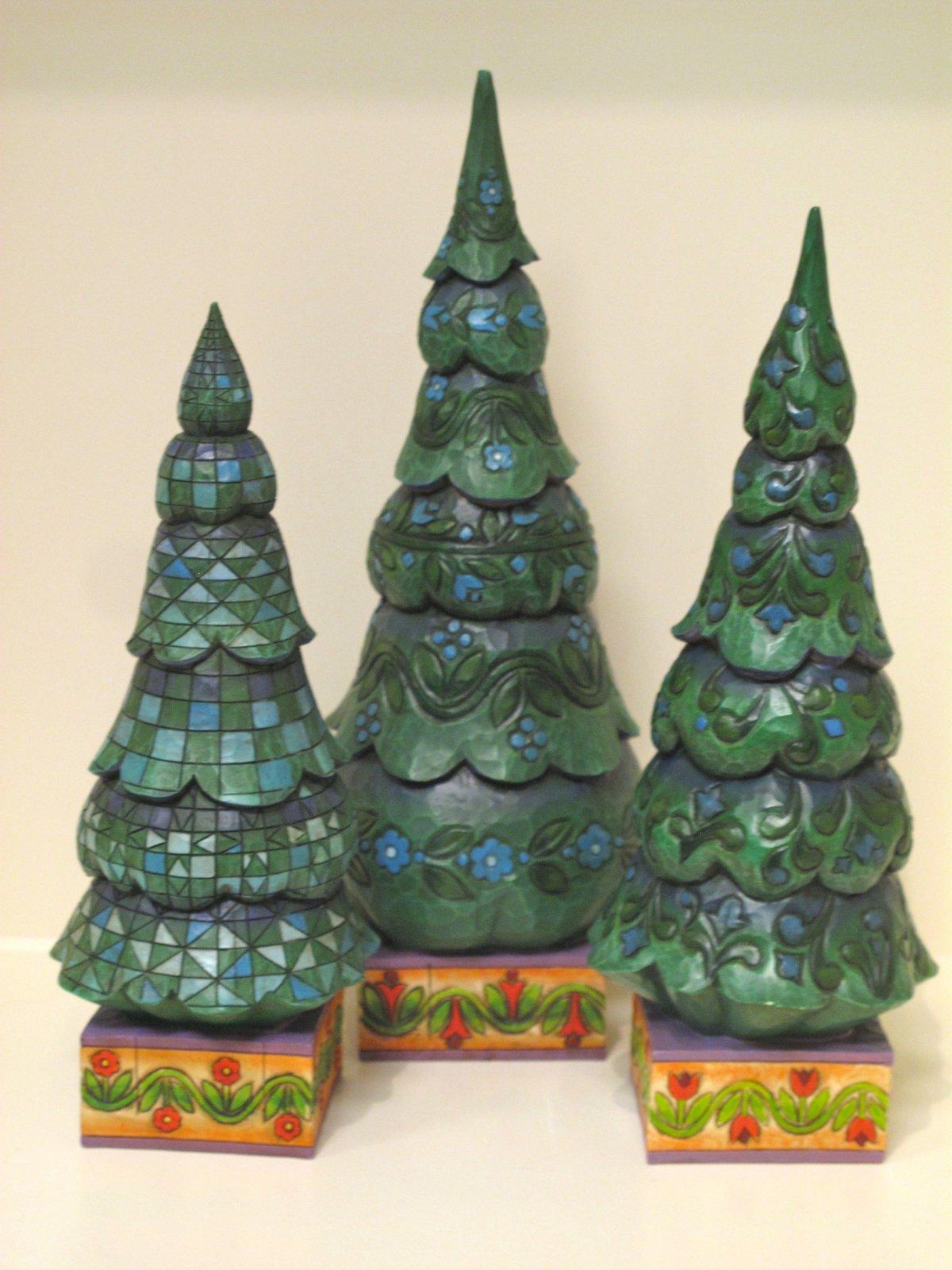 Christmas Tree Set of 3 Jim Shore O Tannenbaum - 045544120845