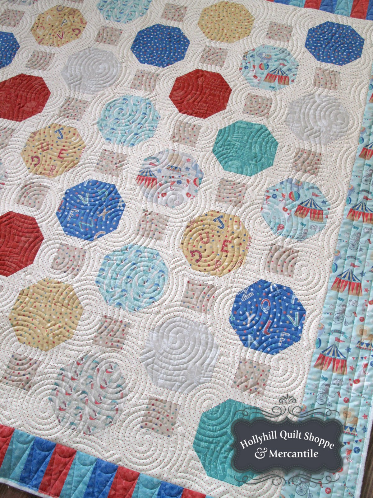 Vintage Circus Marbles Quilt Kit