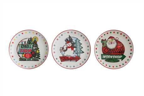 Retro Santa 8 Plate