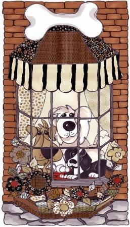 Loralie Designs Doggies In the Window Panel