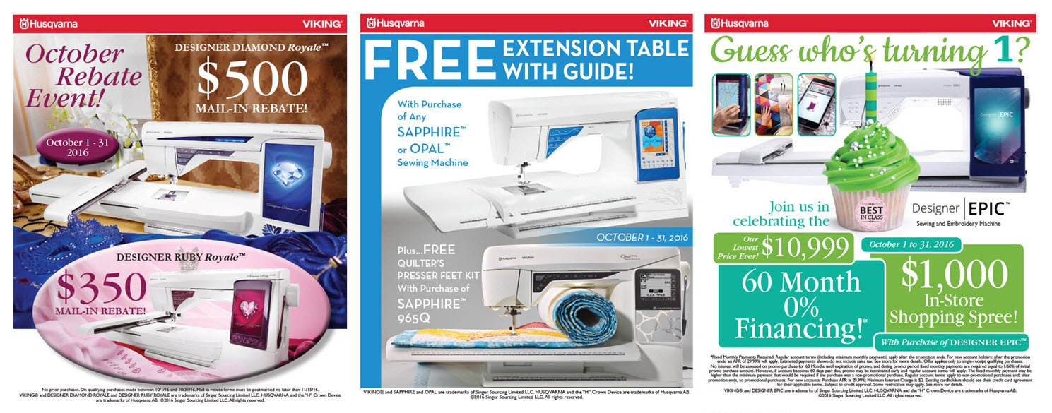 sewing machine sales