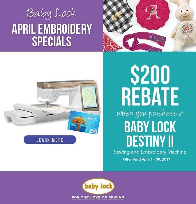 Baby Lock Rebate offer