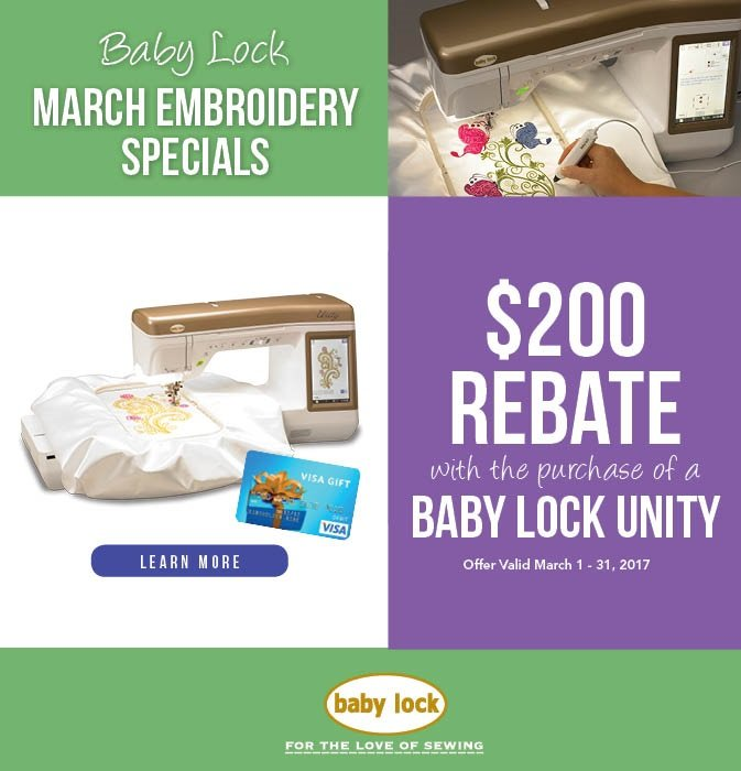 Baby Lock Rebate offer