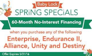 Baby Lock Financing
